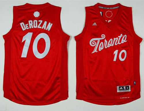 Raptors #10 DeMar DeRozan Red 2016-2017 Christmas Day Stitched NBA Jersey
