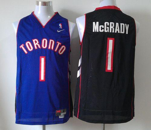 Raptors #1 Tracy Mcgrady Black/Purple Nike Throwback Stitched NBA Jersey