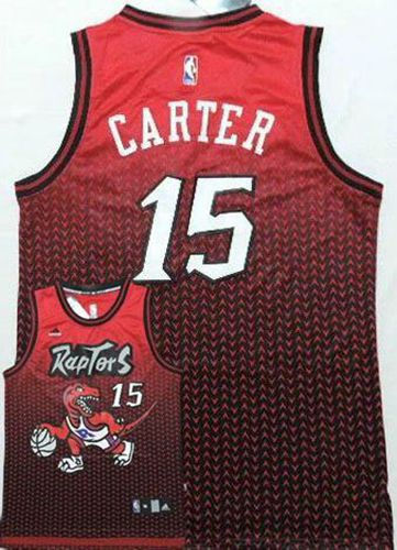 Raptors #15 Vince Carter Red Resonate Fashion Stitched NBA Jersey