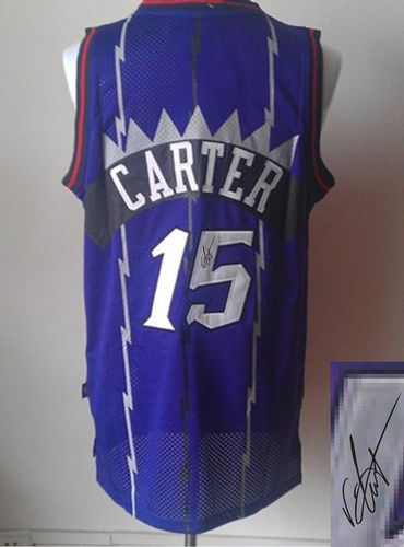 Revolution 30 Autographed Raptors #15 Vince Carter Purple Stitched NBA Jersey