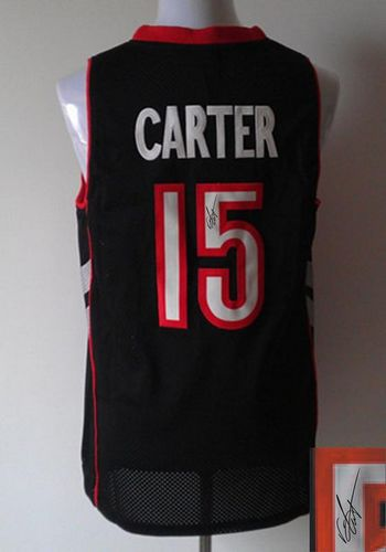Revolution 30 Autographed Raptors #15 Vince Carter Black/Purple Stitched NBA Jersey