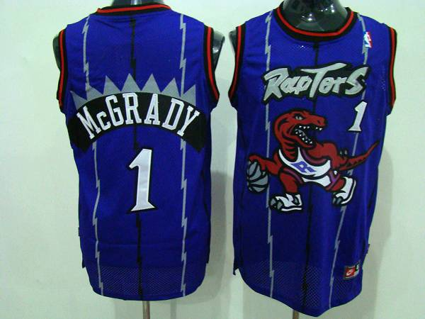 Raptors #1 Tracy McGrady Blue Swingman Stitched NBA Jersey