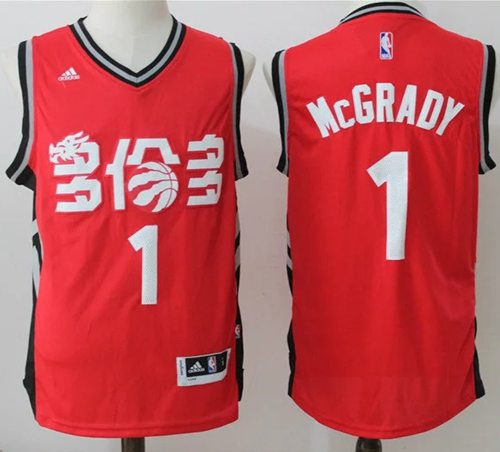 Raptors #1 Tracy Mcgrady Red Slate Chinese New Year Stitched NBA Jersey