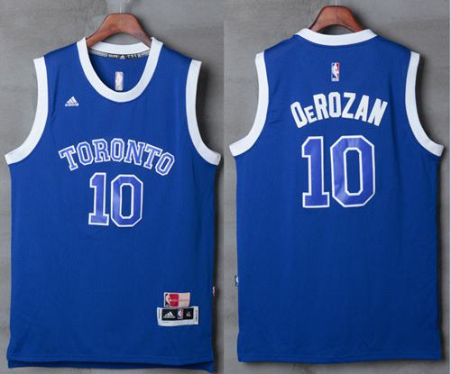 Raptors #10 DeMar DeRozan Light Blue Stitched NBA Jersey