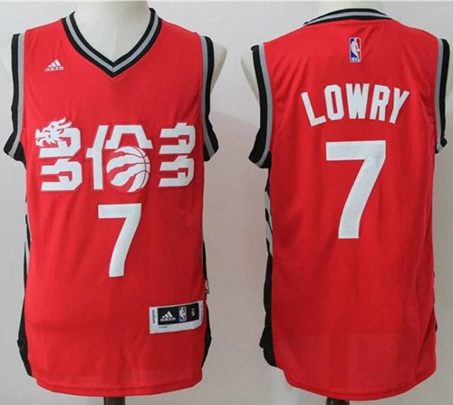 Raptors #7 Kyle Lowry Red Slate Chinese New Year Stitched NBA Jersey