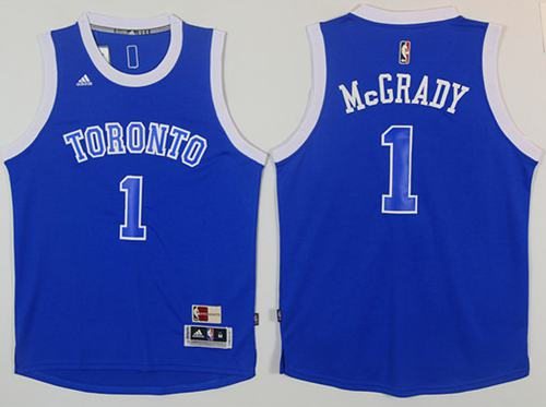 Raptors #1 Tracy Mcgrady Light Blue Throwback Stitched NBA Jersey