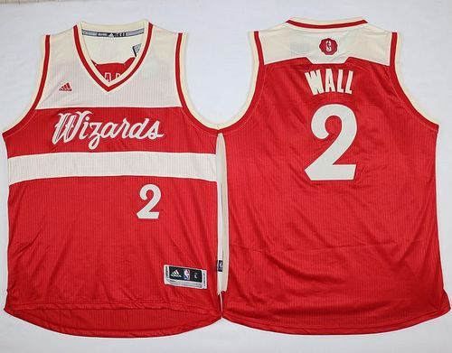Wizards #2 John Wall Red 2015-2016 Christmas Day Stitched NBA Jersey