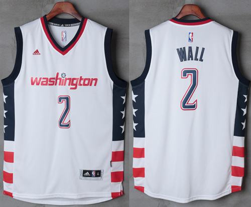 Wizards #2 John Wall New White Home Stitched NBA Jersey