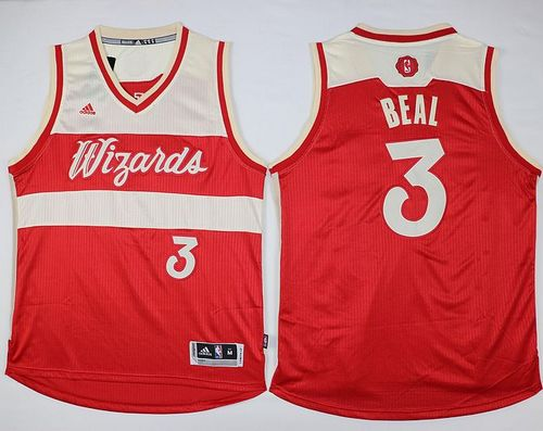 Wizards #3 Bradley Beal Red 2015-2016 Christmas Day Stitched NBA Jersey