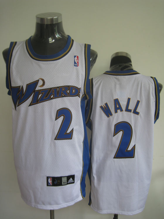 Wizards #2 John Wall Stitched White NBA Jersey