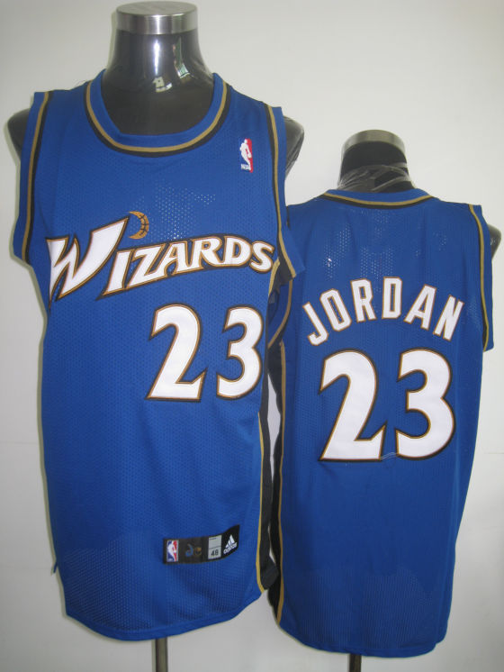 Wizards #23 Michael Jordan Stitched Blue NBA Jersey