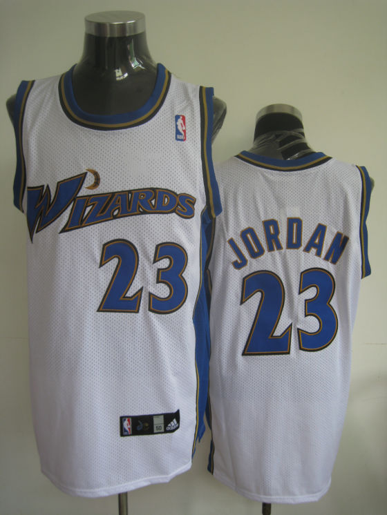 Wizards #23 Michael Jordan Stitched White NBA Jersey