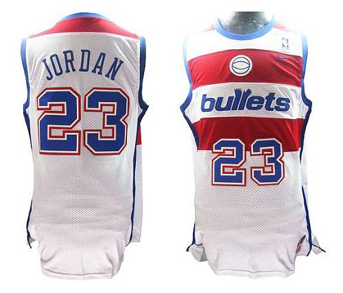 Wizards #23 Michael Jordan White Nike Throwback Stitched NBA Jersey