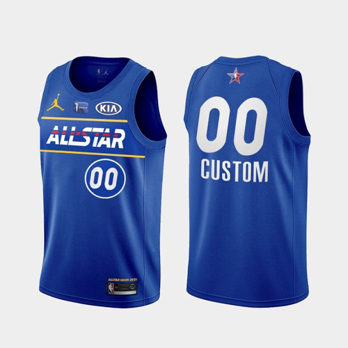 Men's 2021 All-Star Active Player Custom Blue Eastern Conference Stitched NBA Jersey