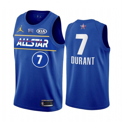 Men's 2021 All-Star #7 Kevin Durant Blue Eastern Conference Stitched NBA Jersey