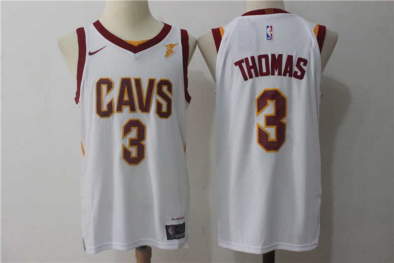 Men's Nike Cleveland Cavaliers #3 Isaiah Thomas White Stitched NBA Jersey