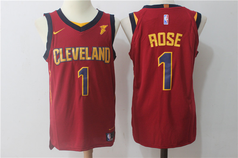 Men's Nike Cleveland Cavaliers #1 Derrick Rose Wine Red Stitched NBA Jersey