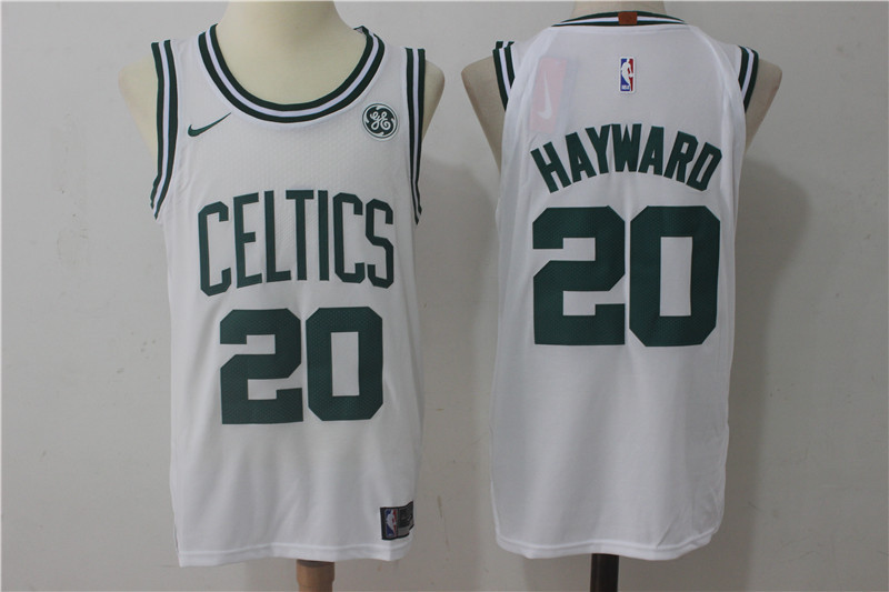 Men's Nike Boston Celtics #20 Gordon Hayward White Stitched NBA Jersey