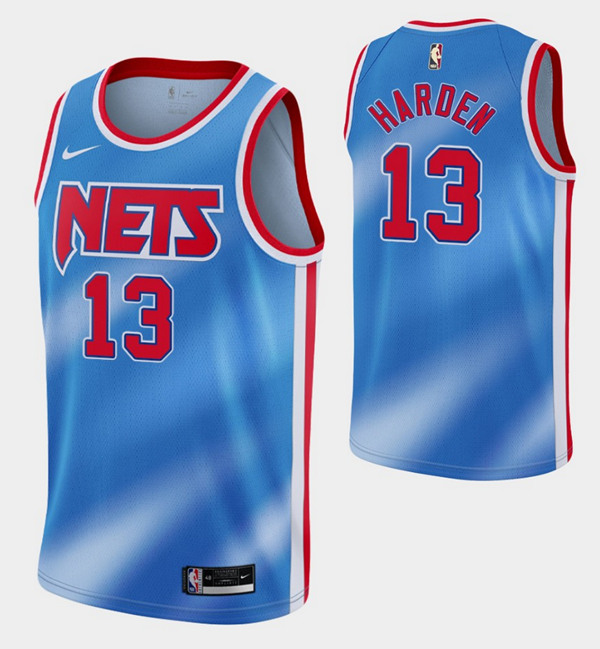 Men's Brooklyn Nets #13 James Harden 2020/21 Blue Stitched NBA Jersey