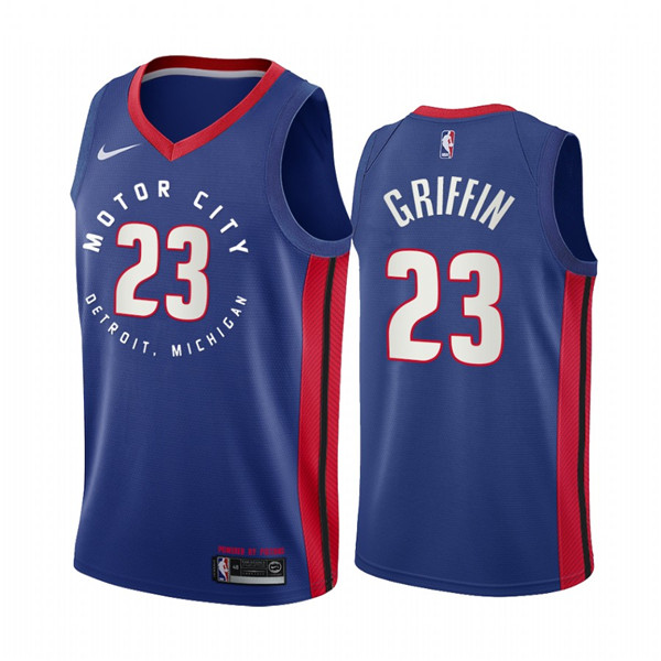 Men's Detroit Pistons #23 Blake Griffin Navy Motor City Edition 2020-21 Stitched NBA Jersey