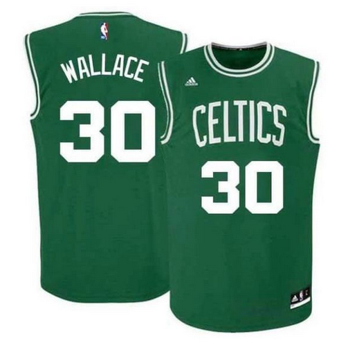 Men's Celtics #30 Rasheed Wallace Green Swingman Stitched NBA Jersey