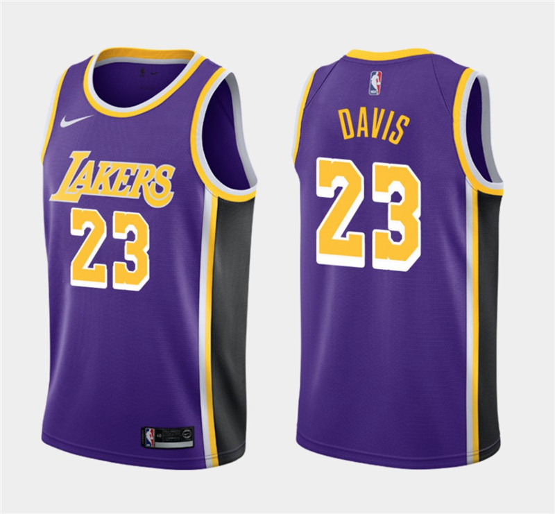 Men's Los Angeles Lakers #23 Anthony Davis Purple Stitched NBA Jersey