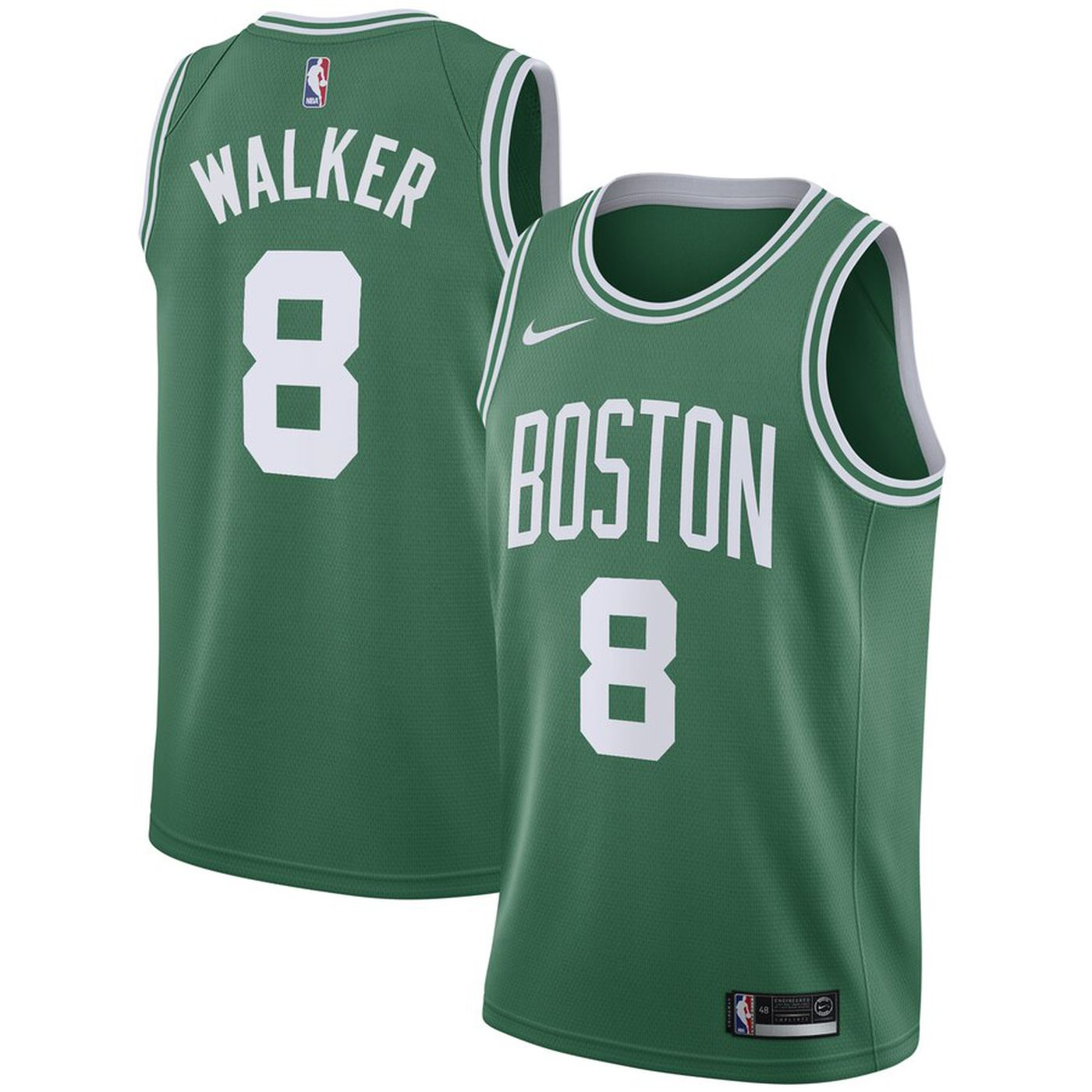 Men's Boston Celtics #8 Kemba Walker Green Swingman Stitched NBA Jersey