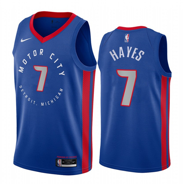 Men's Detroit Pistons #7 Killian Hayes Navy Motor City Edition 2020-21 Stitched NBA Jersey