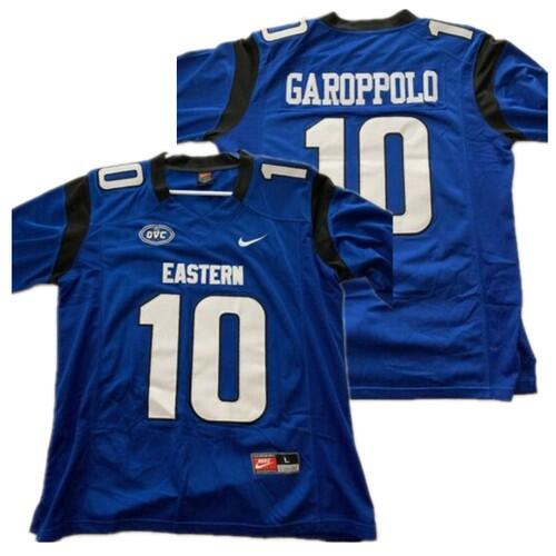 Men's Eastern Illinois Panthers #10 Jimmy Garoppolo Royal Stitched NCAA Jersey