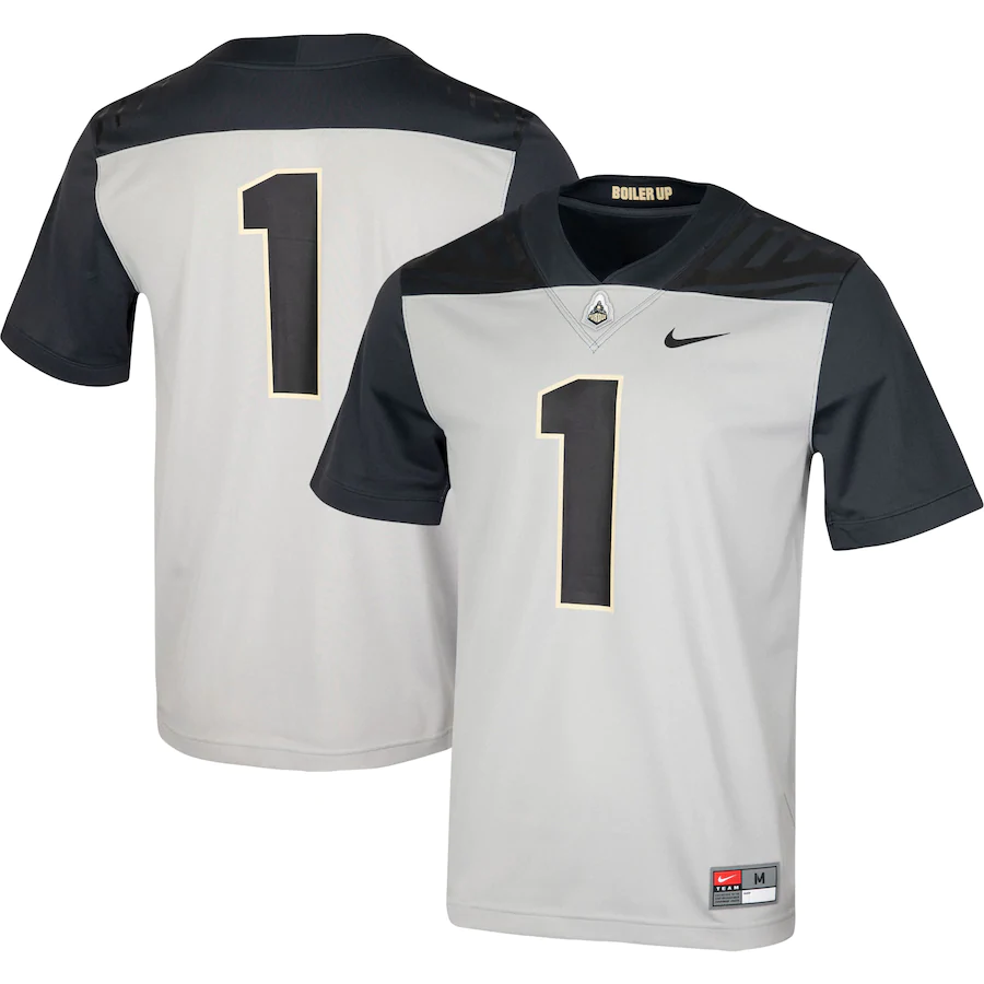 Men's Boilermakers #1 Grey Stitched NCAA Jersey