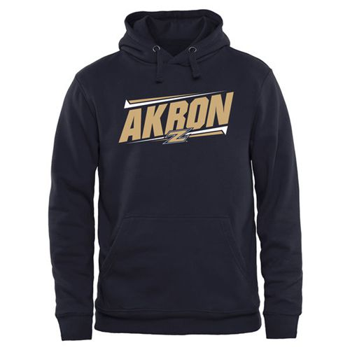 Akron Zips Double Bar Pullover Hoodie Navy