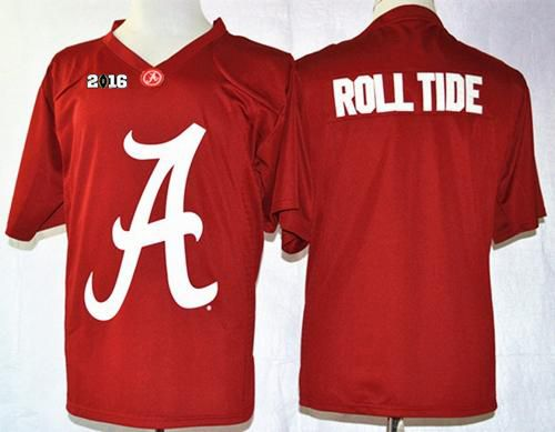 Crimson Tide Roll Tide Red Pride Fashion 2016 College Football Playoff National Championship Patch Stitched NCAA Jersey