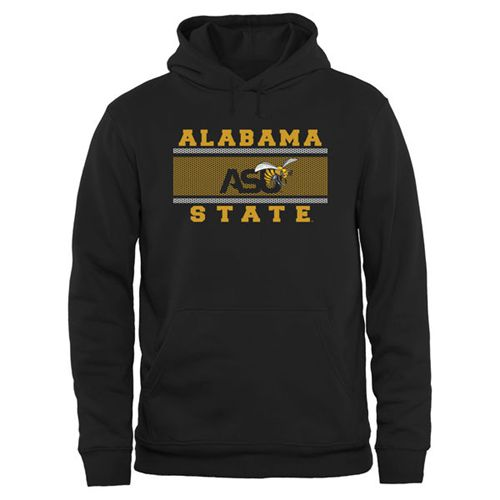 Alabama State Hornets Big & Tall Micro Mesh Sweatshirt Black