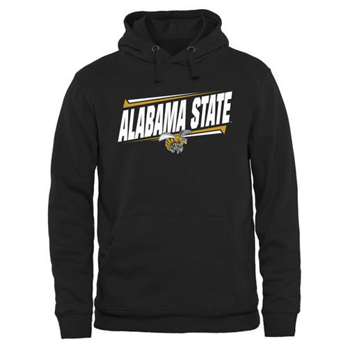 Alabama State Hornets Double Bar Pullover Hoodie Black