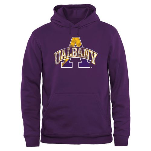 Albany Great Danes Big & Tall Classic Primary Pullover Hoodie Purple