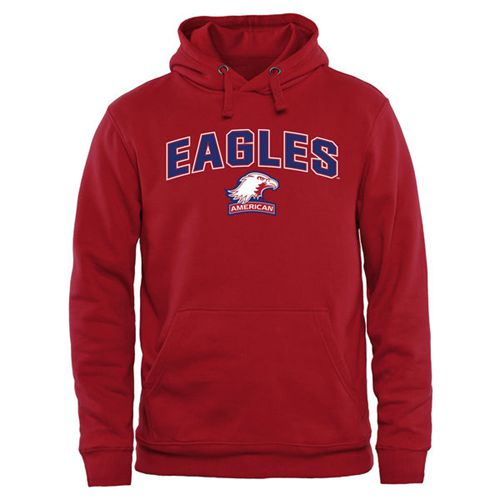American Eagles Proud Mascot Pullover Hoodie Red