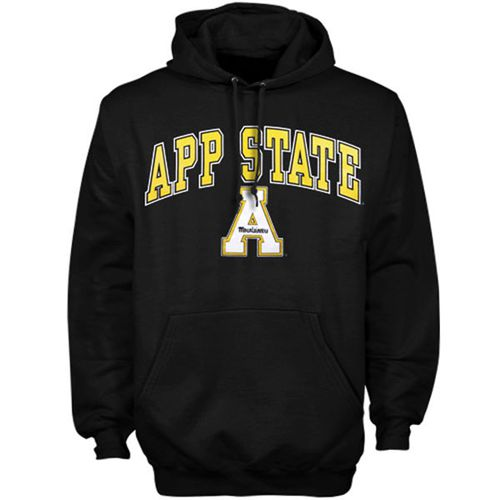 Appalachian State Mountaineers Arch Over Logo Hoodie Black