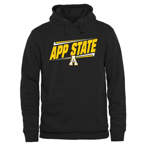 Appalachian State Mountaineers Double Bar Pullover Hoodie Black