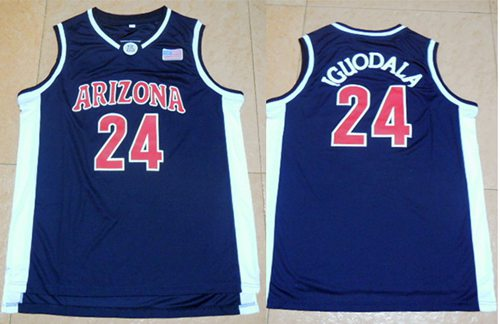 Wildcats #24 Andre Iguodala Navy Blue Basketball Stitched NCAA Jersey