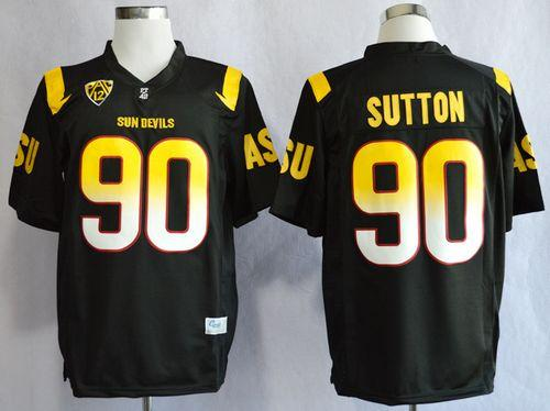 Sun Devils #90 Will Sutton Black Stitched NCAA Jersey