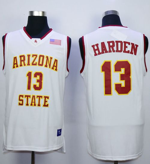 Sun Devils #13 James Harden White Stitched NCAA Basketball Jersey