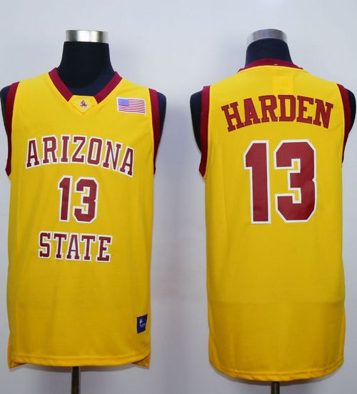 Sun Devils #13 James Harden Gold Stitched NCAA Basketball Jersey