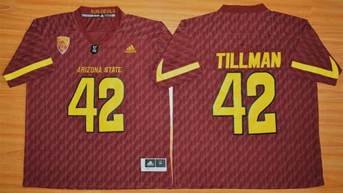 Sun Devils #42 Pat Tillman New Red Stitched NCAA Jersey