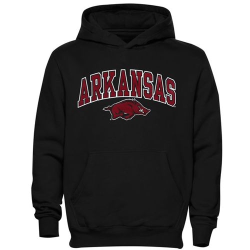 Arkansas Razorbacks Midsized Pullover Hoodie Black