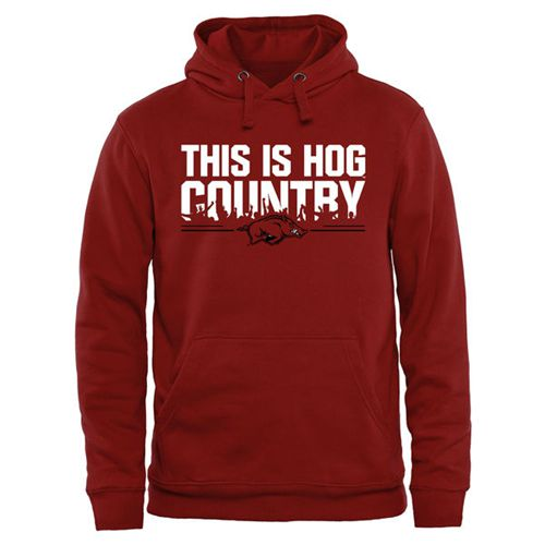 Arkansas Razorbacks Our House Pullover Hoodie Cardinal