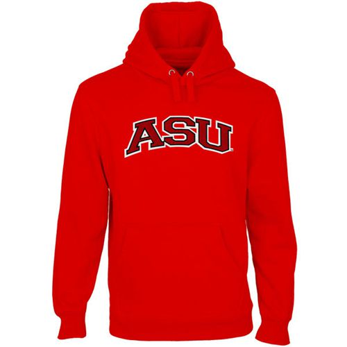 Arkansas State Red Wolves Arch Name Pullover Hoodie Scarlet