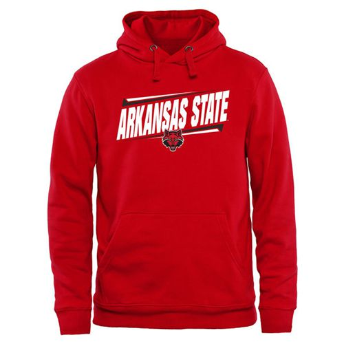 Arkansas State Red Wolves Double Bar Pullover Hoodie Red