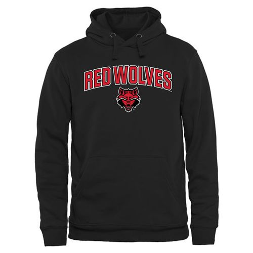 Arkansas State Red Wolves Proud Mascot Pullover Hoodie Black