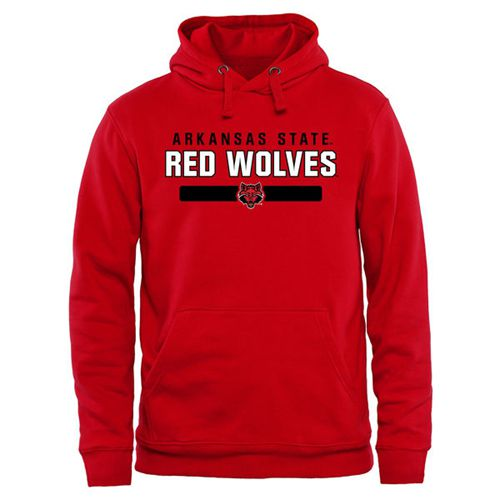 Arkansas State Red Wolves Team Strong Pullover Hoodie Scarlet