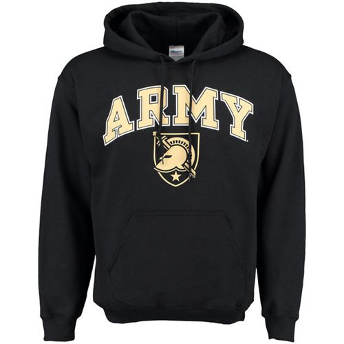 Army Black Knights New Agenda Midsize Arch Over Logo Hoodie Black